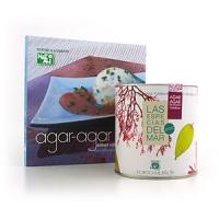 Комплект из книги об агар-агаре и упаковки продукта весом 200 граммов