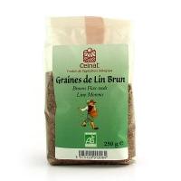 Коричневые органические семена льна