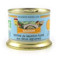 Органический паштет из копченого лосося с цитрусовым вкусом